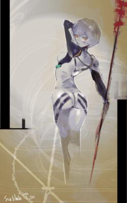 Illustration d'Ishida d'Ayanami Rei de Neon Genesis Evangelion
