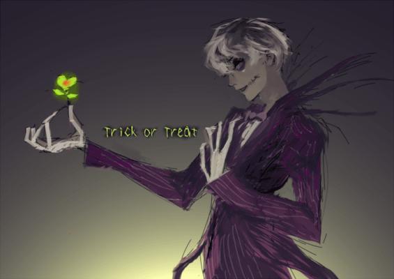 Sasaki avec le costume de Monsieur jack dessiner par Sui Ishida