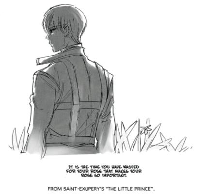 Sui Ishida dessin citation du livre Le Petit Prince