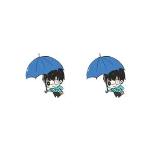 Boucle d'oreille Kaneki parapluie