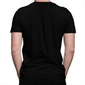 T-shirt noir de dos