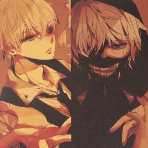 Poster Tokyo Ghoul variante Kaneki et Suzuya