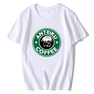 T-shirt Anteiku Cofee blanc
