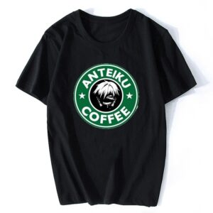 T-shirt Anteiku Cofee noir