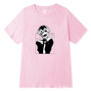 T-shirt rose Sasaki fou Tokyo Ghoul